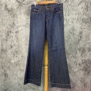 Garnet Hill Jeans Wide Leg Flare Sz 29 Made in USA